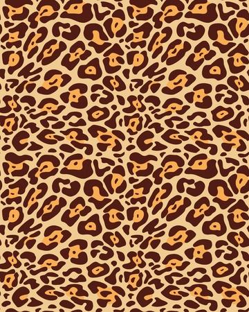 Seamless leopard fur pattern