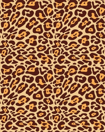 Seamless leopard fur pattern Vector