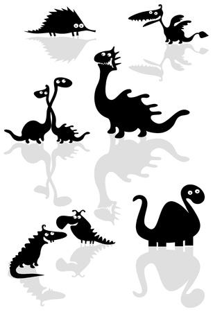 Funny dinosaurs  Vector
