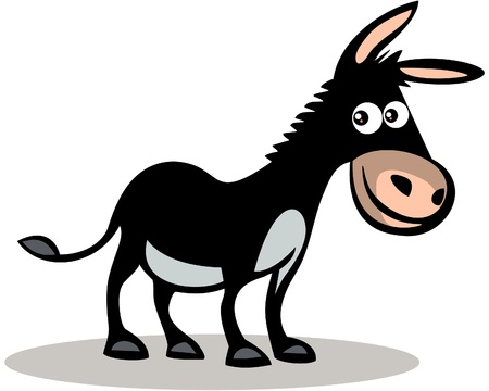Happy donkey Stock Vector - 13826923