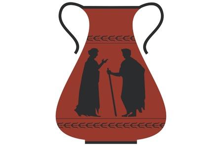 decorative urn: Ancient greek vase Illustration