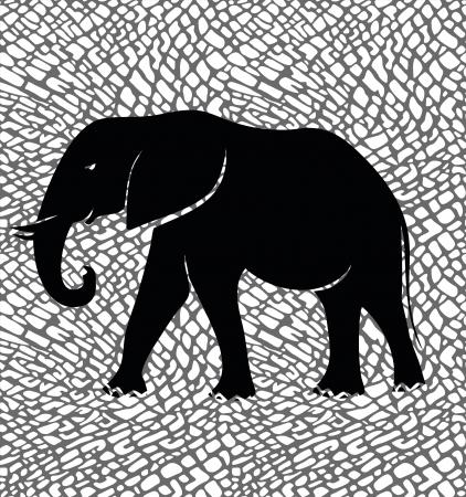 textile image: Elephant Illustration