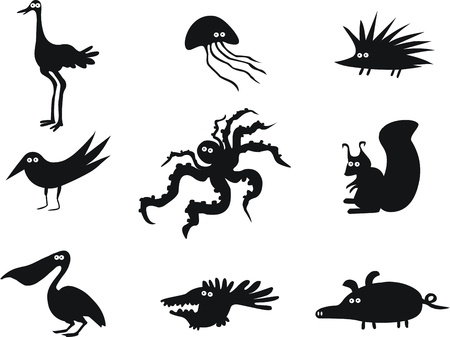 Set of Funny Animals Stock Vector - 15433584