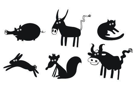 Set of funny animals Stock Vector - 15708379