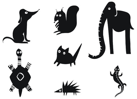 salamander: Set of funny animals