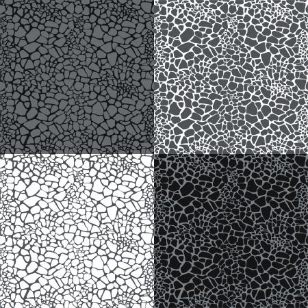 Giraffe skin (4 grey seamless patterns)