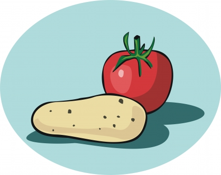 Potato and Tomato  Stock Vector - 16312115