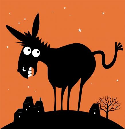fesses black: �ne dr�le Illustration