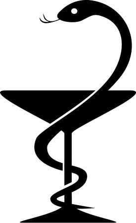 poison symbol: Caduceus Pharmacy Symbol