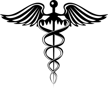 medical emblem: Caduceus Pharmacy Symbol