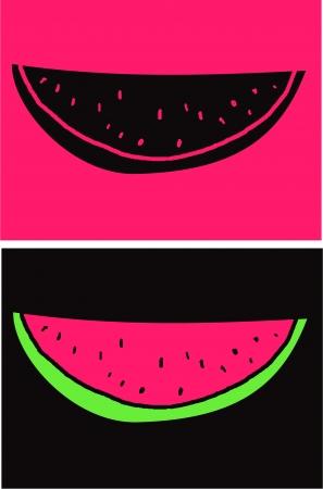 Watermelon slice Stock Vector - 17443560