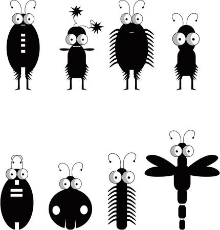 재미 곤충 일러스트