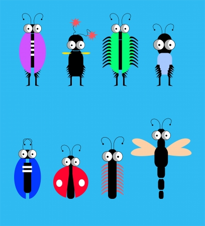 Funny insects Stock Vector - 17528466