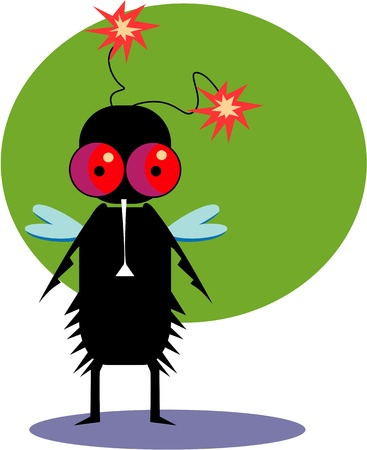 Funny fly Stock Vector - 17528454