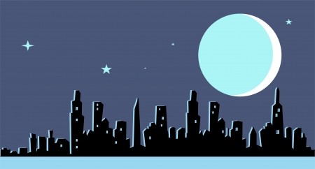 Cityscape night background Stock Vector - 17684930