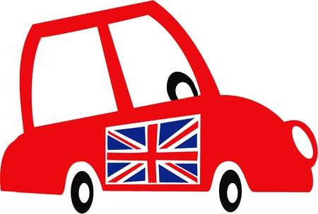British mini car  Vector