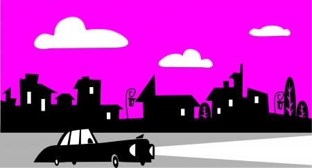 clouds scape: Street Illustration