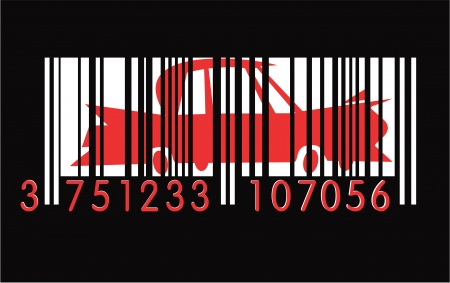 comerce: Barcode with car
