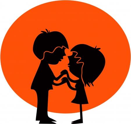 parejas sensuales: Niño y niña