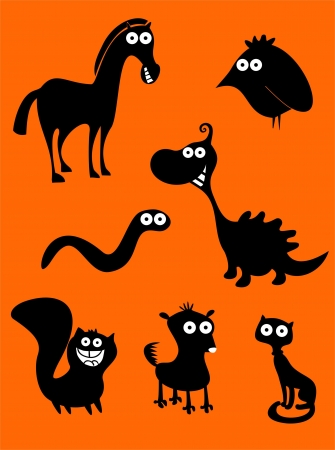 Set of funny animals Stock Vector - 17801582