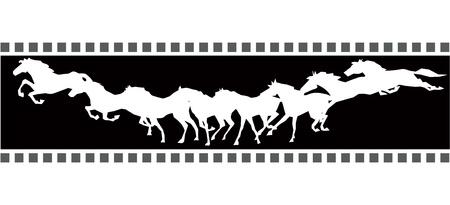Running horse sequence  Ilustração