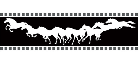 thoroughbred: Running horse sequence  Illustration