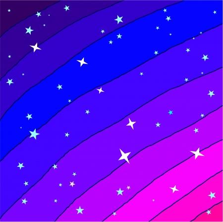 Night starry sky photo