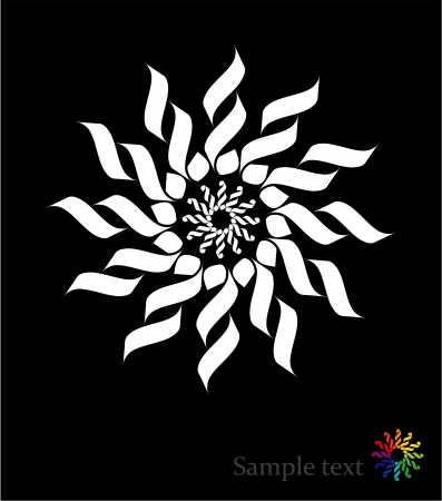 Sun - abstract design element  Vector