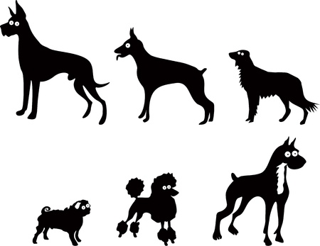 hound:  Set of funny dogs