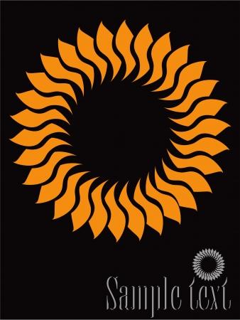 太陽 - 抽象的なデザイン要素