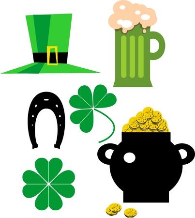 st  patrick's day: St  Patrick s day set Illustration