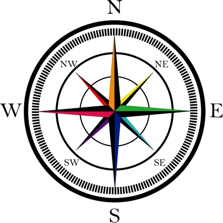 wind rose: Compass rose