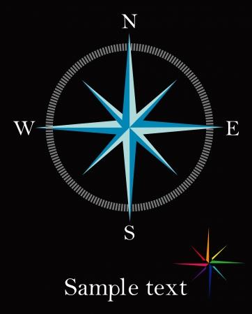 rose wind: Compass rose - elemento de dise�o abstracto