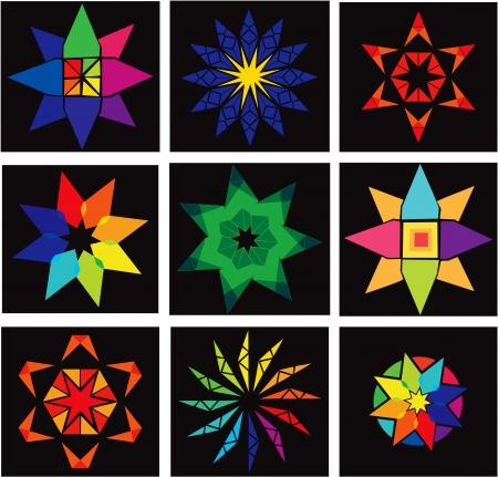 Set of multicolor stars Stock Vector - 18200042