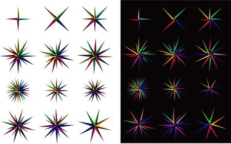 Set of multicolor stars Stock Vector - 18200018