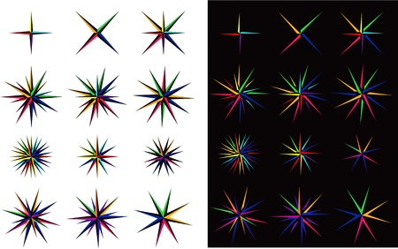 Set of multicolor stars Stock Vector - 18200018