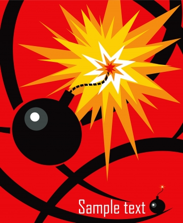 Cartoon bomb background Vector