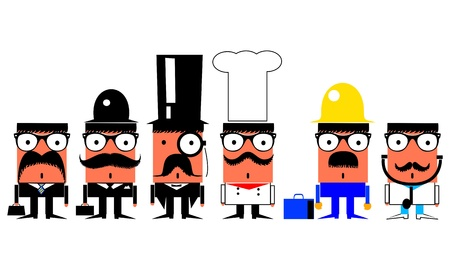 Jobs and professions cartoon characters set  Vector
