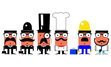 banker: Jobs and professions cartoon characters set