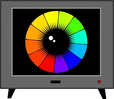 TV eye Stock Vector - 18316375