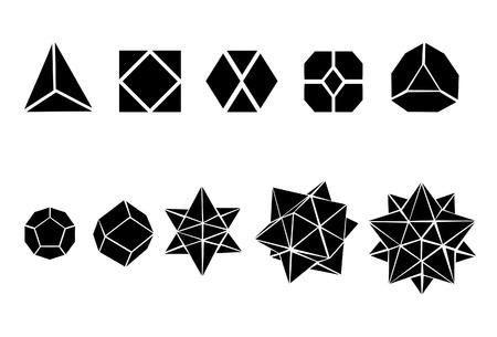 icosahedron: Set of geometric shapes