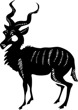Kudu antelope Vector