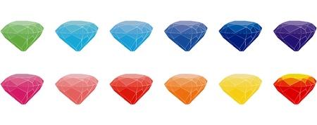 Set of gems Vector