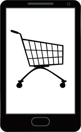 Internet shopping with smart phone Stock Vector - 19601679
