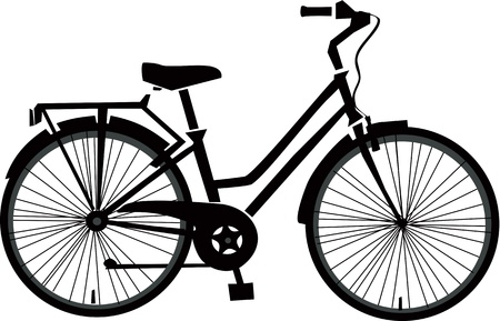 Black Bicycle Vector