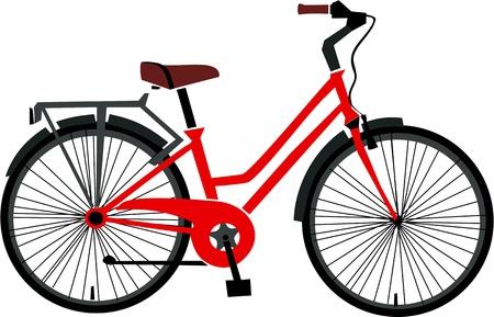 빨간 자전거 벡터 일러스트
