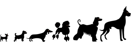 Funny dog silhouettes Vector