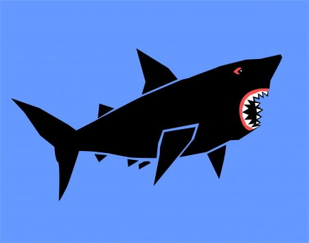 Vector cartoon shark Vector