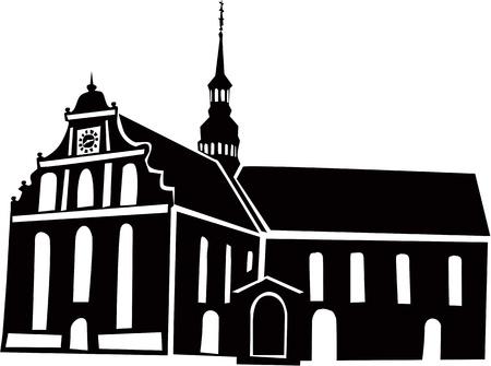 Nordic church  Vector
