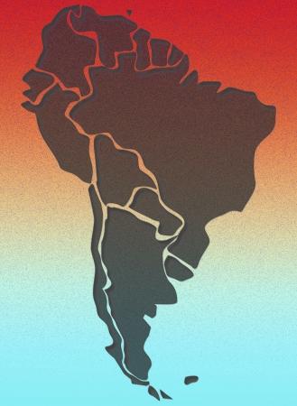 south america map: South America map